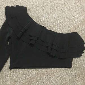 Zara one shoulder Top